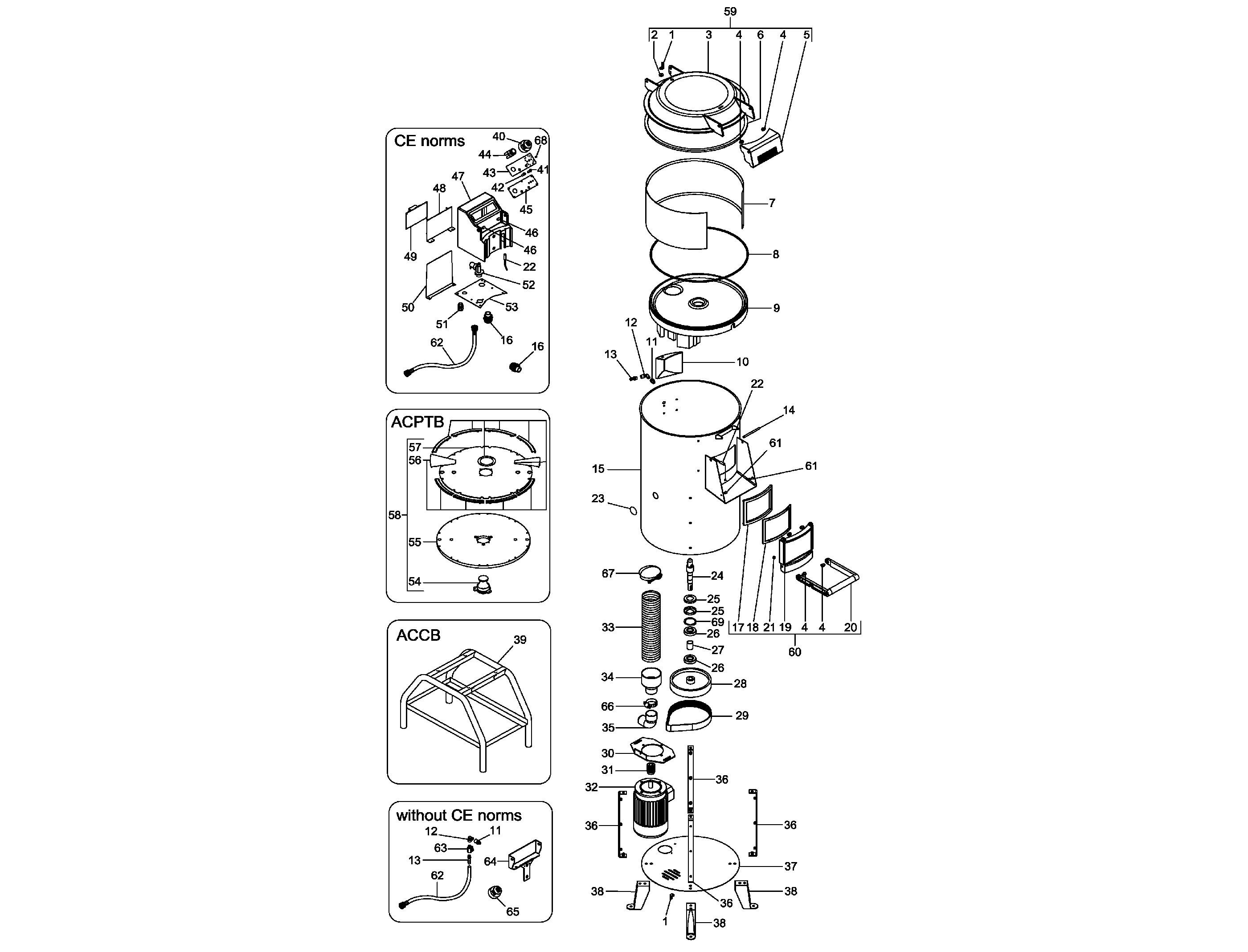 Взрыв-схема Fimar PPF/25, деталировка Fimar PPF/25