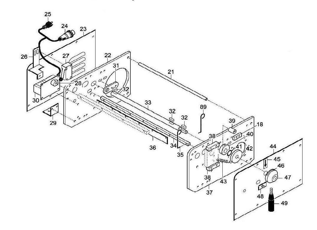 Взрыв-схема Fimar SI/320, деталировка Fimar SI/320