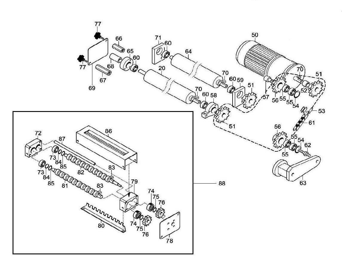 Взрыв-схема Fimar SI/420, деталировка Fimar SI/420
