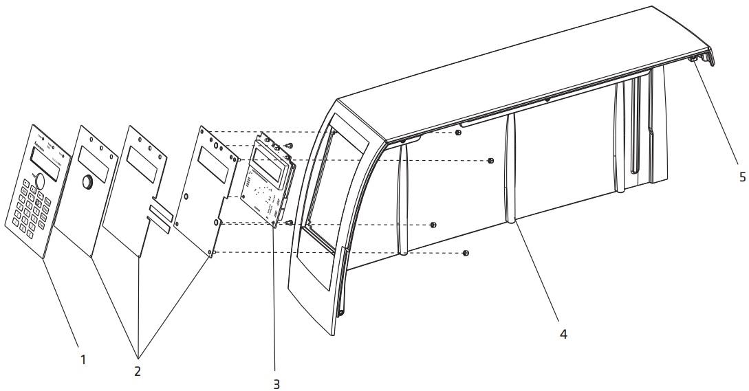 Клавиатура, дисплей и крышка для принтера Intermec PM4i