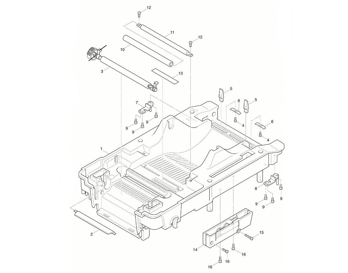 Комплектующие нижней внутренней крышки TSC TTP-245 plus