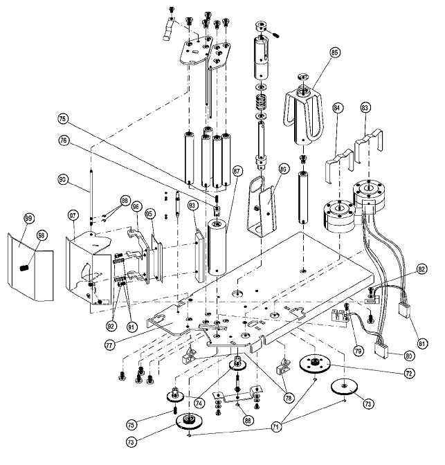 Сборочный чертеж принтера весов Меттлер Толедо Tiger P