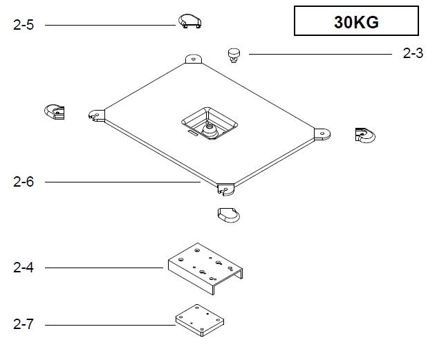 Поддержка весовой платформы для весов DIGI SM-300 Pole на 30 кг. Сборочный чертеж.