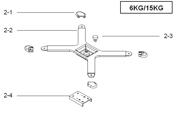 Поддержка весовой платформы для весов DIGI SM-300 Pole на 6 и 15 кг. Сборочный чертеж.