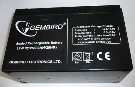 Аккумулятор Gembird 12V9.0AH/20HR