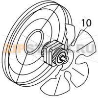 Fan motor 230V 3 50 Hz Brema M 800