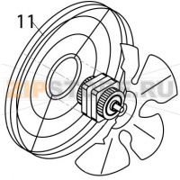 Fan motor grid 230V 3 50 Hz Brema M 800