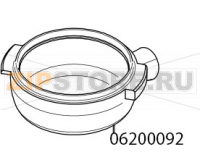 Tilted filter holder body without brand Victoria Arduino Adonis 3 Gr