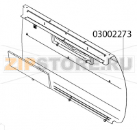 Back plate stainless+ writing support Victoria Arduino Adonis 3 gr