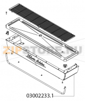Front contour plate sides+ tray Victoria Arduino Adonis 3 Gr